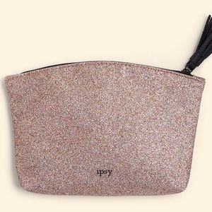 FREE with $15 order! Rose Gold Glitter Ipsy Bag